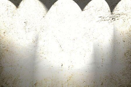 spot lit: Five spotlights shining down onto blank wall. Copy space.