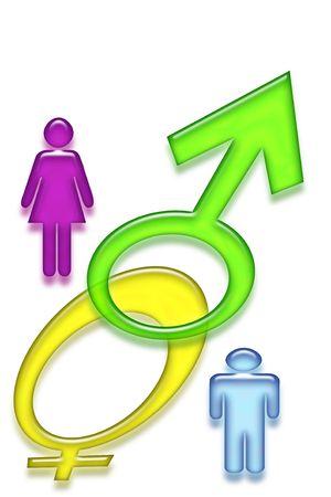 Male and female symbols isolated on white background Stock Photo - 6025791