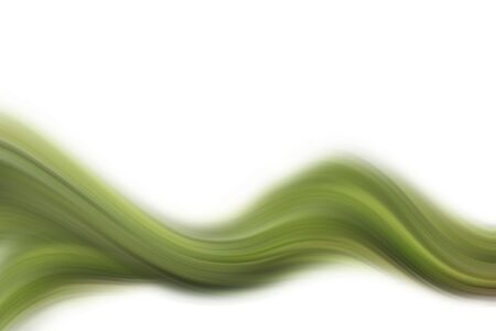 Abstract smooth green tone flow on white background. Stock Photo - 6080315