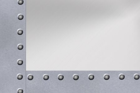 Rivets in steel frame background. Copy space Stock Photo - 6196804