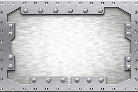 seguridad industrial: Remaches en forma de metal. Copiar el espacio.