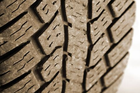 Closeup of tread on tire   Stock Photo - 6232887