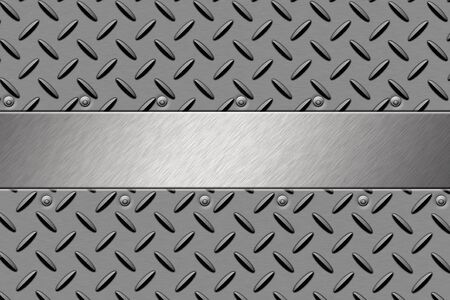 solidity: Rivets in steel background. Copy space Stock Photo
