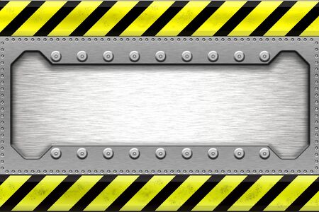 Rivets in metal shape. Copy space. Stock Photo - 6302083