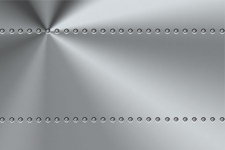 Rivets on brushed steel background.  Stock Photo - 6337990
