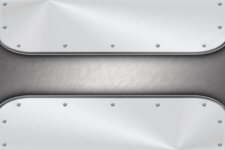 Rivets on brushed steel background.  Stock Photo - 6337993