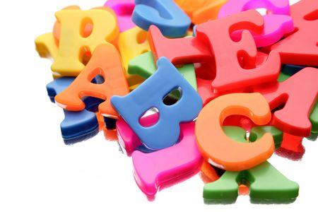 Alphabet letters on white background Stock Photo - 6651412