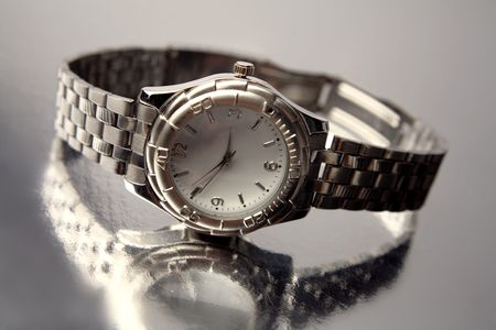 Close-up of wristwatch  photo