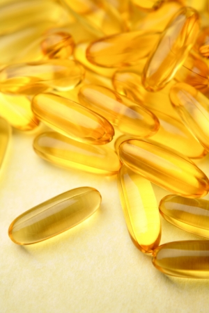 Omega 3 fish oil capsules    photo