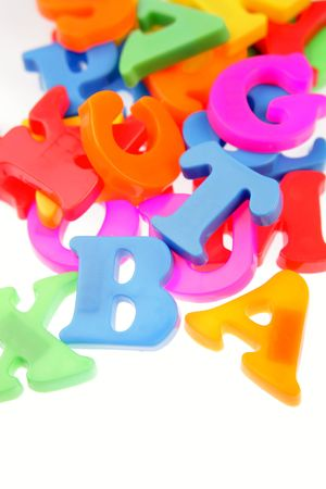 Alphabet letters on plain background    Stock Photo - 6826537
