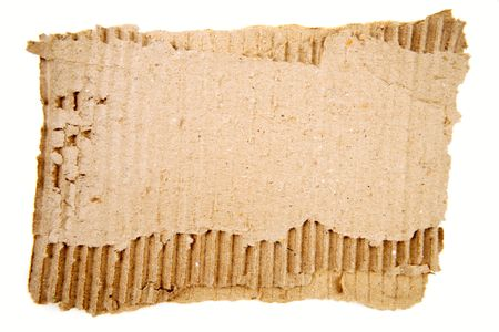 Torn cardboard on plain background Stock Photo - 6826582