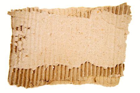 Torn cardboard on plain background Stock Photo - 6826582