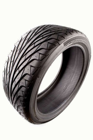 Auto tyre isolated on plain background Stock Photo - 6968951