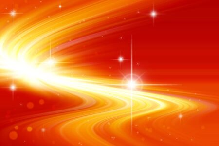 Stars on bright abstract background. Stock Photo - 7114917