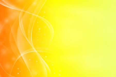 fractal design element or art background: Light blurs on abstract yellow and orange tone background.