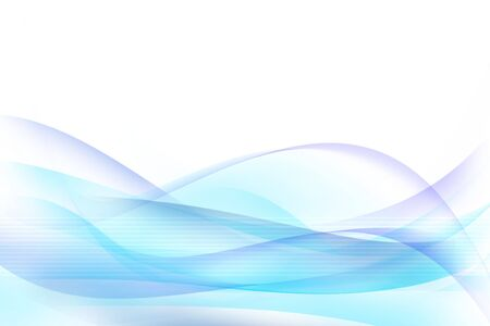 Lines and blue waves on white background.  photo