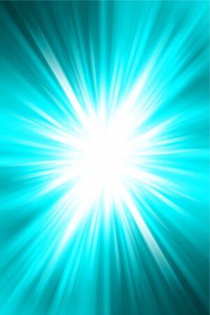 detonate: Bright blast of light on blue tone background