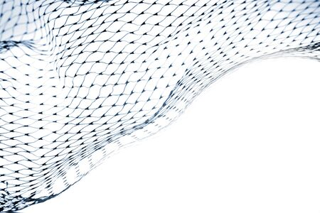 Close-up of netting on white background Stock Photo - 7341976