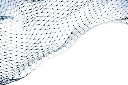 netting: Close-up van verrekening op witte achtergrond Stockfoto
