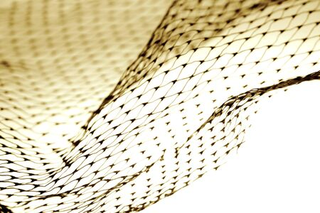 Close-up of netting on plain background photo