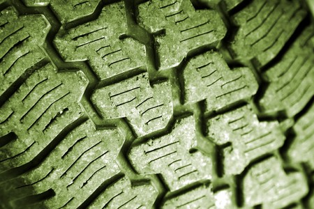 Closeup of tread on tire   photo