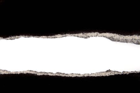 Hole ripped in paper on white background Stock Photo - 7366792