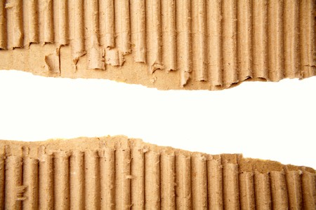 Gap in corrugated cardboard on white background Stock Photo - 7366810