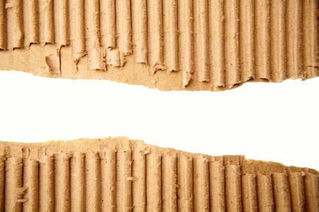 Gap in corrugated cardboard on white background Stock Photo - 7366810