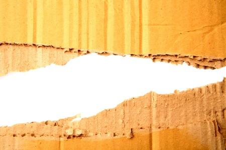 Gap in corrugated cardboard on white background Stock Photo - 7366809