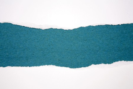 Ripped paper on blue background Stock Photo - 7531085