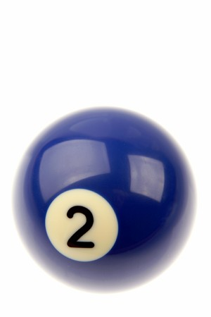 billiard ball: Pool ball isolated over white background  Stock Photo