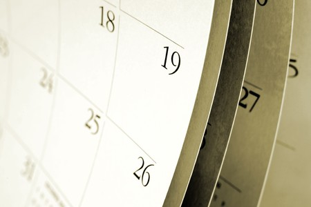 Closeup of numbers on calendar page Stock Photo - 7557010