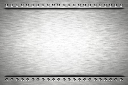 metal textures: Rivets in brushed steel background