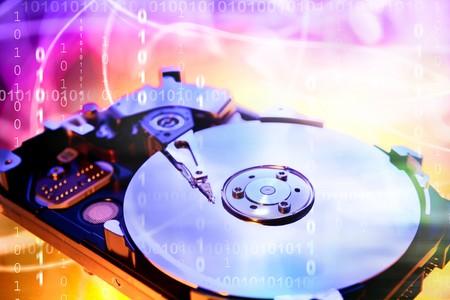 harddrive: Computer hard-drive and binary codes