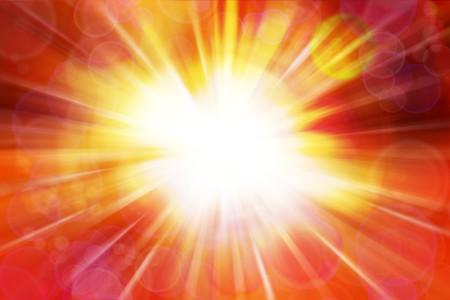 detonation: Bright blast of light background Stock Photo