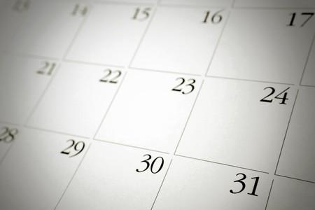 calendario: Detalle de los n�meros de p�gina calendario