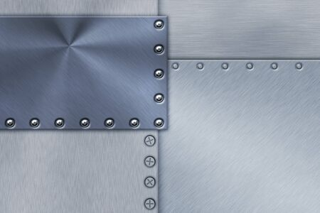 armour plating: Rivets in sheets of steel