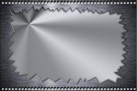 acier bross�?: Rivets en arri�re-plan en acier bross�