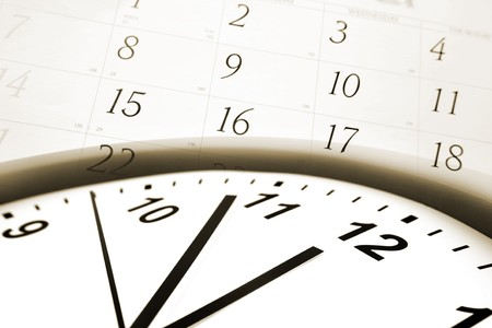 Clock face and calendar numbers Stock Photo - 7733342