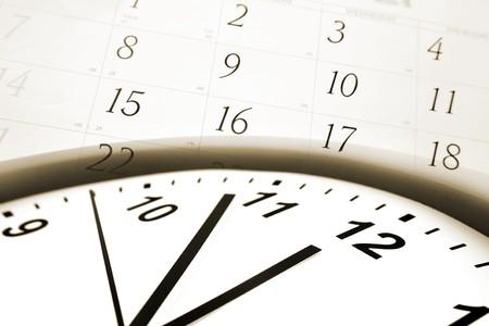 Clock face and calendar numbers Stock Photo - 7733342