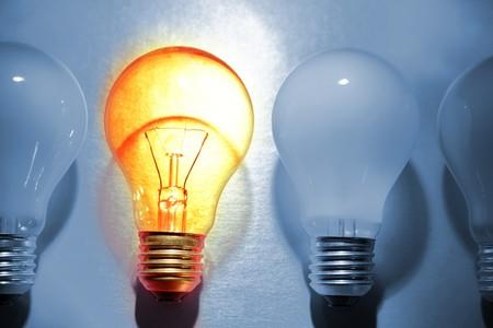odd: One bright bulb in crowd