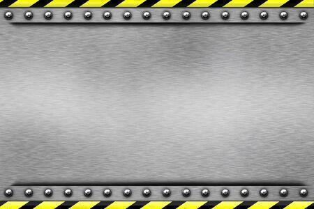 siderurgia: Remaches en fondo de acero de textura  Foto de archivo