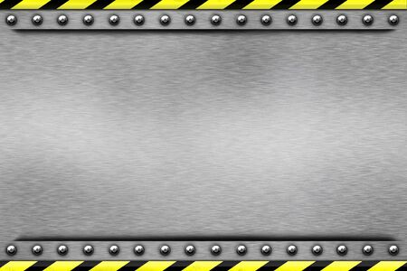 Rivets in textured steel background photo