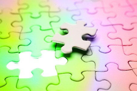 Final piece of jigsaw puzzle Stock Photo - 7733418