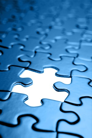 missing link: Piece missing from jigsaw puzzle