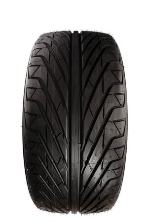 Auto tyre isolated on plain background Stock Photo - 7733453