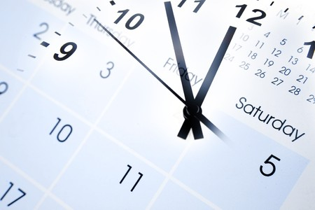 Clock face and calendar numbers Stock Photo - 7733466