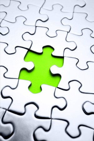 missing: Piece missing from jigsaw puzzle