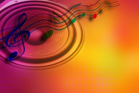 Loud speaker and music notes Stock Photo - 7746406