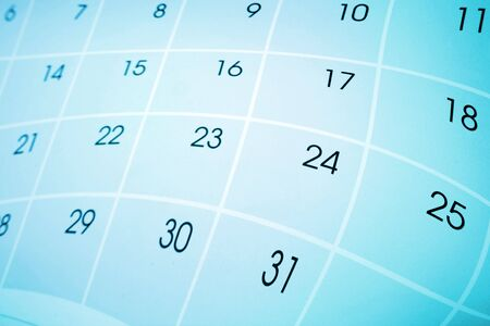 Calendar page on color background Stock Photo - 7783327